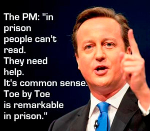 Toe By Toe in Prisons Testimonials - David Cameron